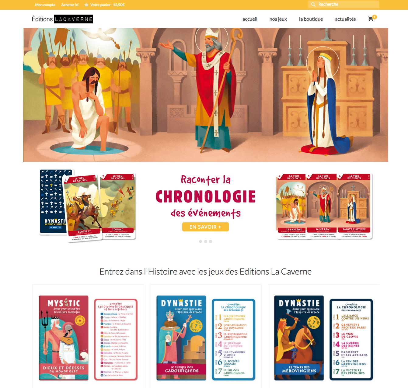 acheter les jeux de cartes dynatie et mystic sur l'histoire de France et la culture classique